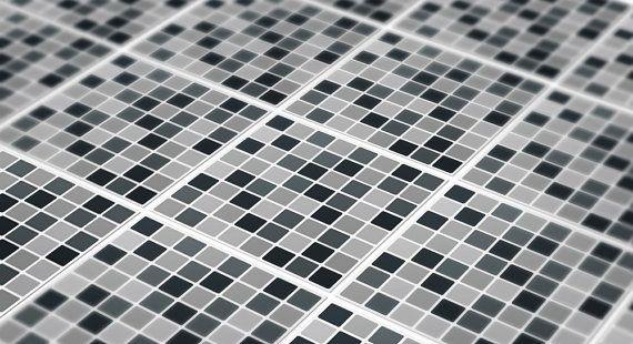 Noir Mosaic Backsplash Decal Vinyl Dosseret Dosseret De