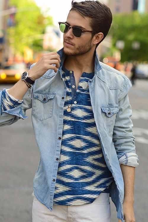 Printed T-shirt, sunglasses, men's fashion, urban men fashion, street style 2014