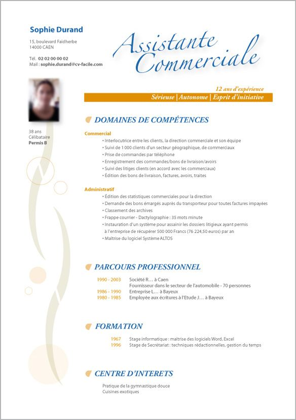 Telecharger Modele De Cv En Francais Sample Resume