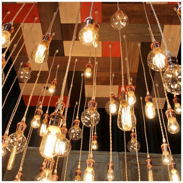 Lighting and wood mosaic