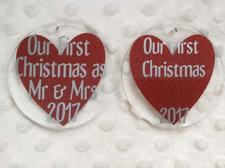 Our first Christmas, Couples customized Christmas Ornaments by FinleysFunzies on Etsy