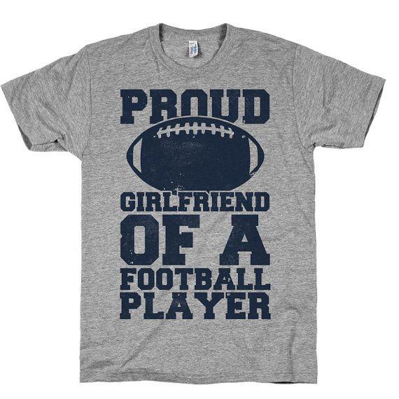 Proud Girlfriend Of A Football Player Sports Shirt por noteesshop, $24.00