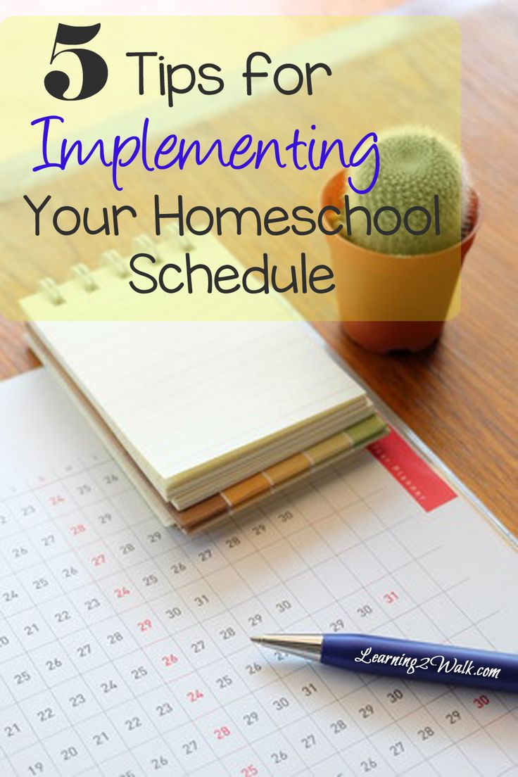 Now that we know how to create a successful homeschool schedule, its now time to implement it. Here are 5 tips for implementing your homeschool schedule