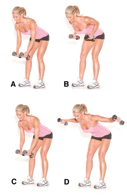 Dumbbell rows to deltoid fly