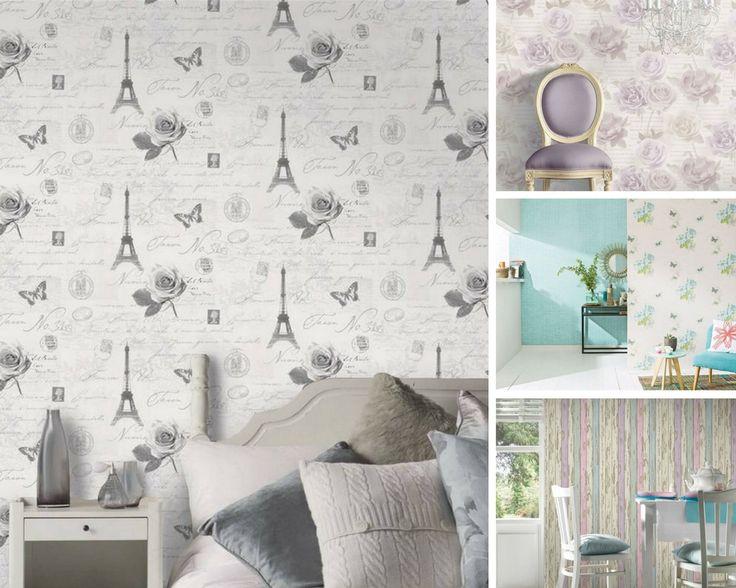 Los papeles pintados de estilo vintage son poderosos aliados en la decoración de interiores. Atrévete a inundar tus paredes con estos delicados diseños.