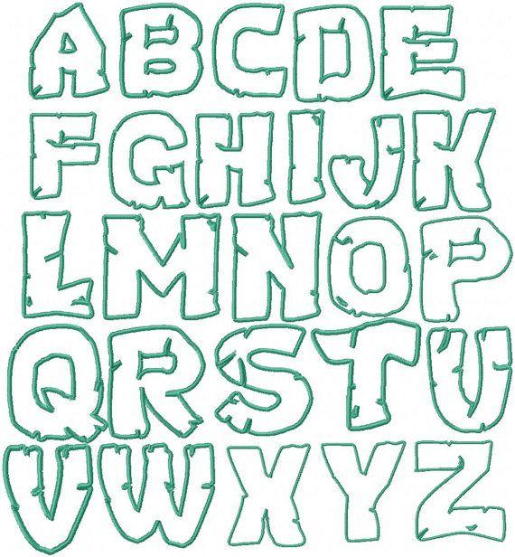 Teenage Mutant Ninja Turtles Embroidery Font By