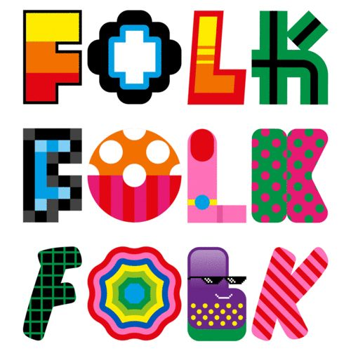 This Brand Identity Spins Like A Slot Machine To Create Countless Permutations | Craig & Karl for Folk. 2016