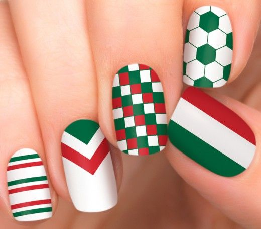 Team Mexico Nail Polish Appliqués | Nail Designs - Incoco
