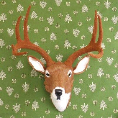 Faux Taxidermy - fake large deer head