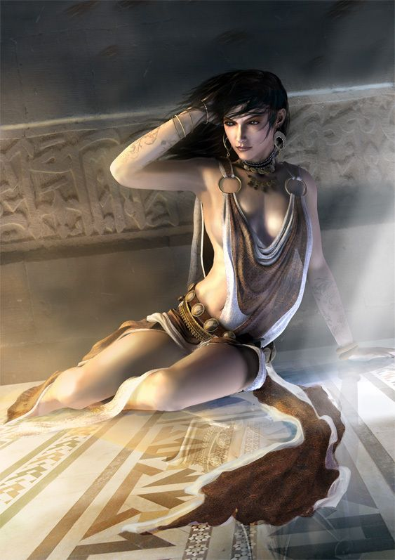 Kaileena from Prince of Persia Warrior Within, its sad but used to have a big crush on her, note the skimpy clothing