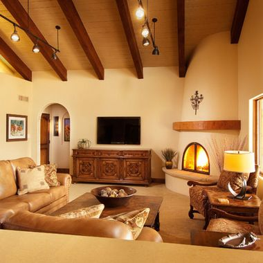 what is living room in spanish style family room wall with tv 24330