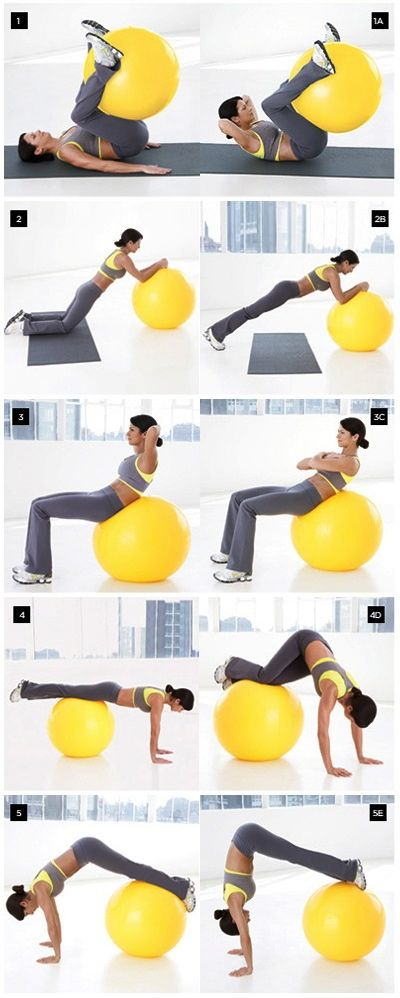 #Stability_Ball Exercises for abs core | fitness