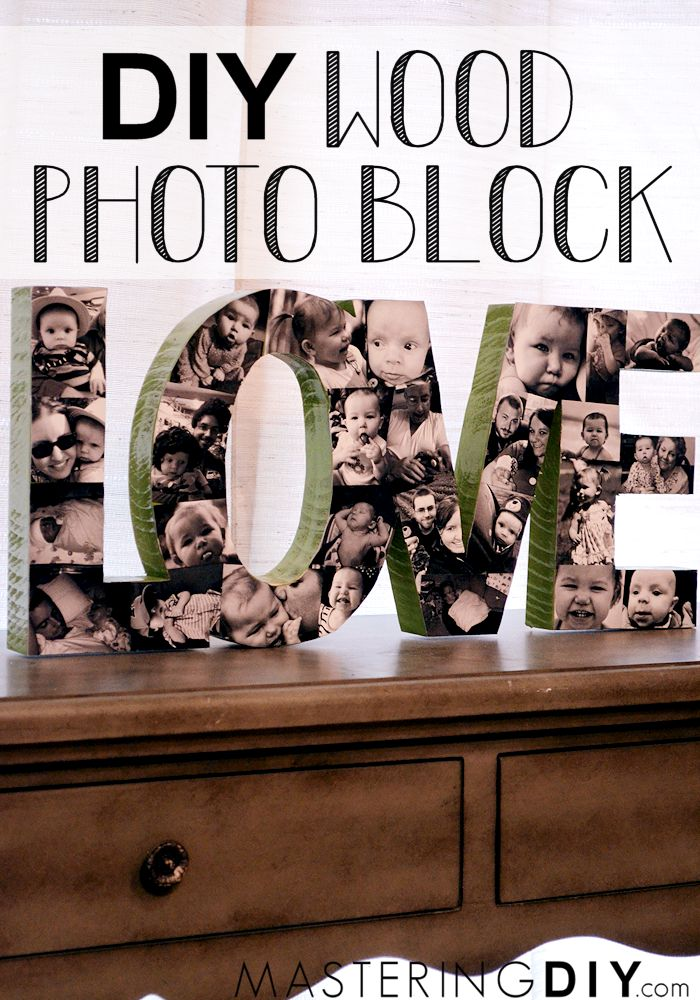 Wood Photo Block!  Ok seriously... is this not the COOLEST!  (I'm thinking grandparents gift!)