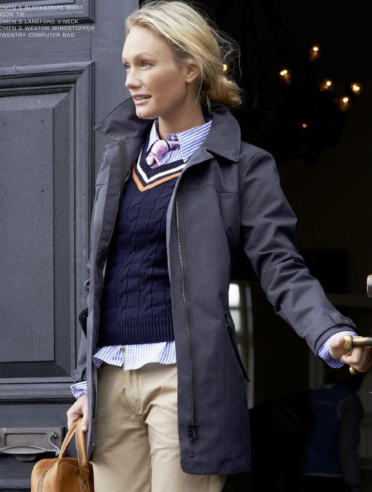 love the colored stripe details on the sweater, might be better if you replace the pink tie with a big dark ribbon.
