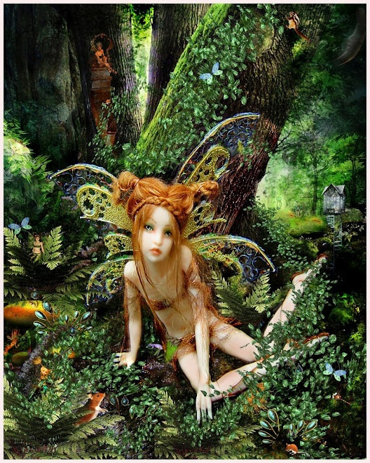 Art Dolls - Sculpture - hand made dolls and characters - I just want to play Tattered Fairies - fairy doll