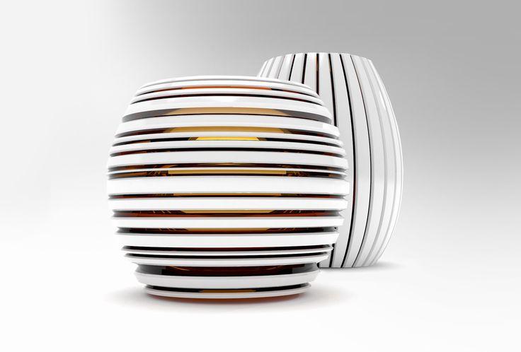 Vase for Moser glassworks a.s. Author: Jakub Mendel