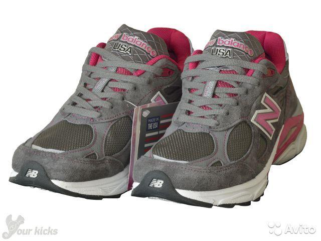 Кроссовки для бега и повседневной носки NEW BALANCE оригинал, модель USA 990 KOMEN, арт.:W990KM3. Цвет:серые с розовым и белым(Grey with Pink & White). Производство США. Куплены в США за 155 долларов + пересылка. Новые в коробке.