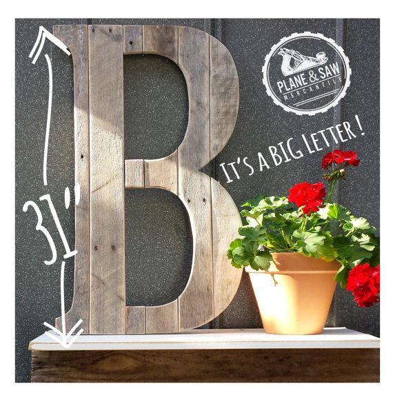 Rustic Letter B, Big Wooden Letter, Rustic Wedding Chic, Rustic Wood Letter, Industrial Farmhouse, Barn Wedding, Rustic
