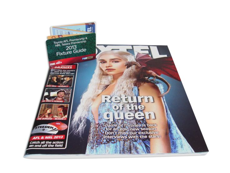Footy Fixture Z-CARD distributed via Foxtel magazine subscriptions