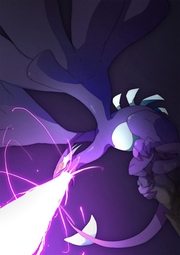 shadow blast by Poketix on DeviantArt. Shadow Lugia from Pokemon XD: Gale of Darkness. #Pokemon #ShadowLugia #fanart