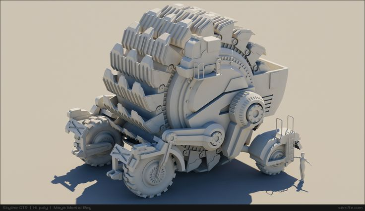 "This model is base on Nick Carver's concept called "" Harvey "". All is done using Maya Autodesk"