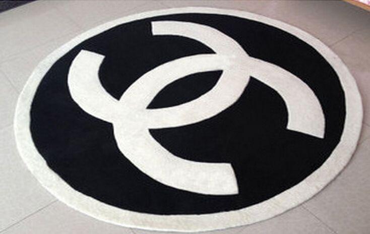 Chanel bath mat bedroom rug home floor carpet 100*100cm