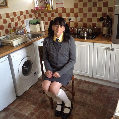 Image result for kenneth taylor wearing her girls school pinafore dress Little schoolgirl  kenneth has her girls yellow school blouse and tie on she allways look a smart little sissy girl kenneth is wearing her girls grey school pinafore dress and grey gi https://ladieshighheelshoes.blogspot.com/2016/12/need-kooples-poney-printed-leather-red.html
