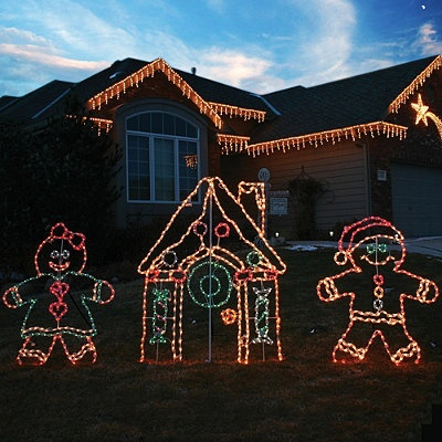 I Want Lighted Outdoor Gingerbread House Christmas