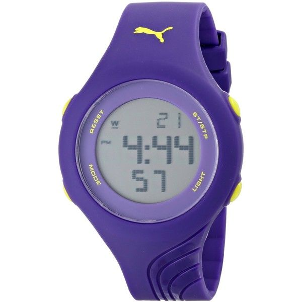 PUMA Twist S Purple Sport Watch (45 NZD) ❤ liked on Polyvore featuring jewelry, watches, purple jewelry, dual time zone watches, chronograph watch, sport chronograph watches and twist jewelry