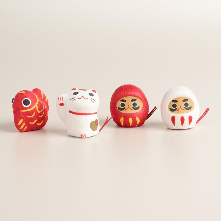 Good luck fortunes and flower seeds hide inside these adorable paper-mache cat, koi fish and Daruma doll figurines, making them fun and surprising gifts. Pull the string to release the contents and sow the seeds to encourage your fortune to grow.