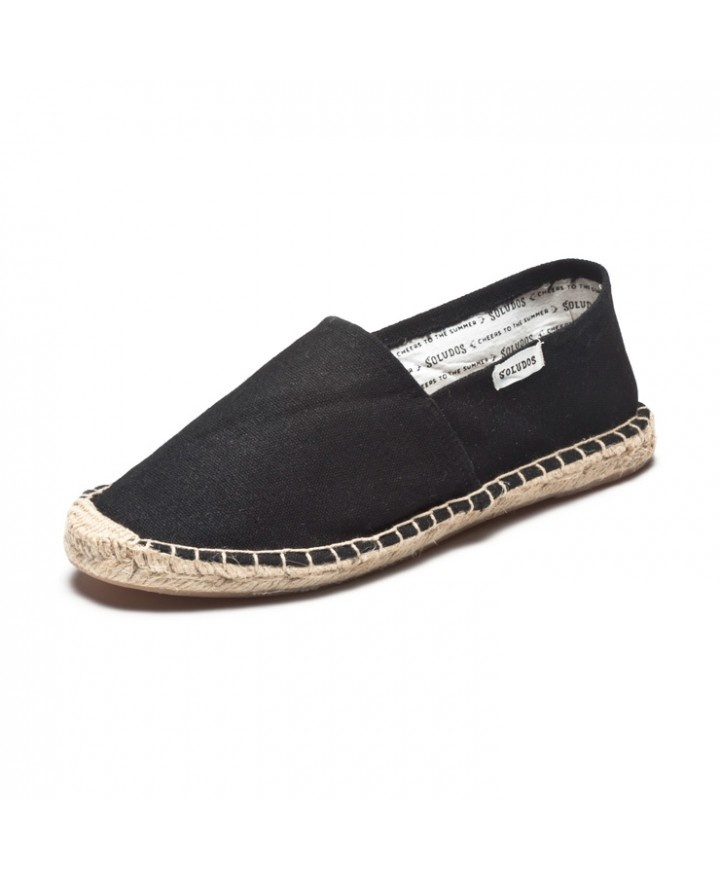 Much less expensive than Toms. $28 Dali - Black Espadrilles for Men from Soludos - Soludos #Espadrilles #shoes