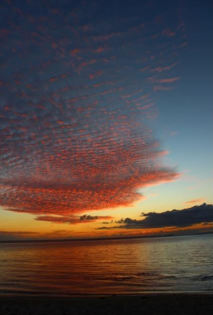 Sunset on the west coast of Mauritius