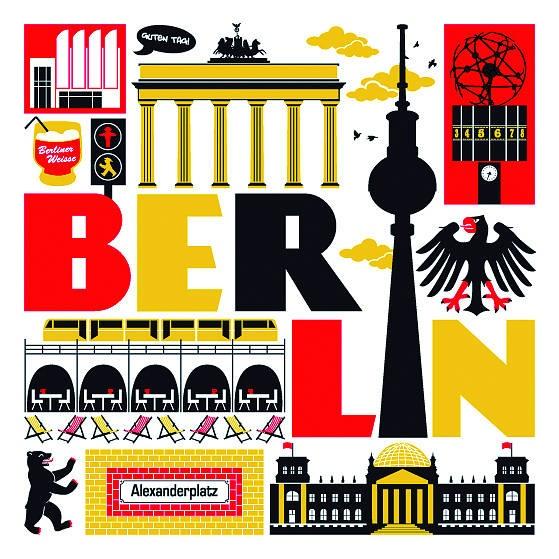 Berlin City Print illustration