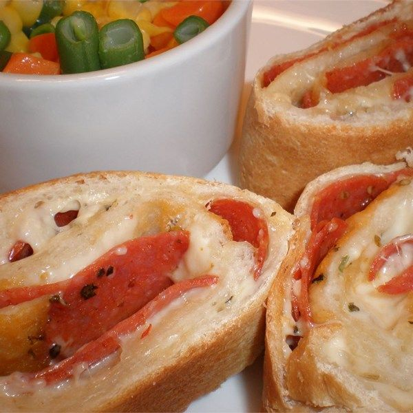 "Pepperoni Bread I ""This always goes over well at my parties - there's never any left over."""