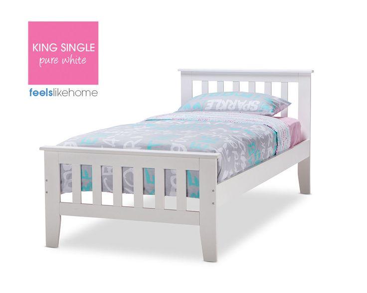 timber king single bed frame 2