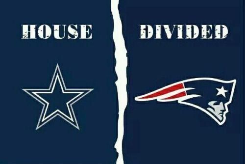 Dallas Cowboys and New England Patriots: House Divided Flag; 3'x5'