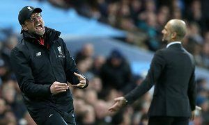 Jürgen Klopp and Pep Guardiola Cancel Each Other Out In Frantic Contest