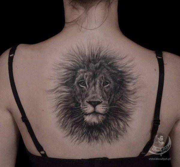 fluffy lion back tattoo #Tattoos #Female #back