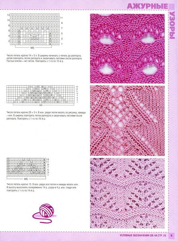 knitting patterns.