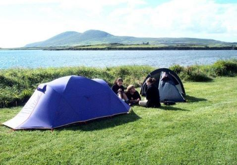Mortimer's Mannix Point Camping & Caravan Park, Cahirciveen, Ring of Kerry Coast, Co Kerry, Ireland. Camping. Campsite. Holiday. Travel. Outdoors.