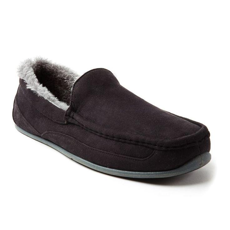 Deer Stags Spun Men's Slippers, Size: medium (12), Black