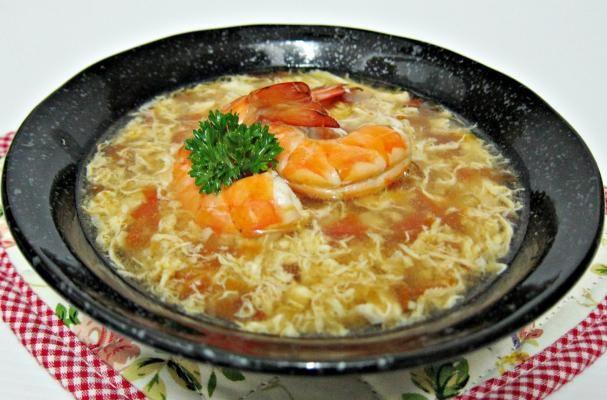 Tomato Egg Drop Soup with Prawns   Soupism   Pinterest