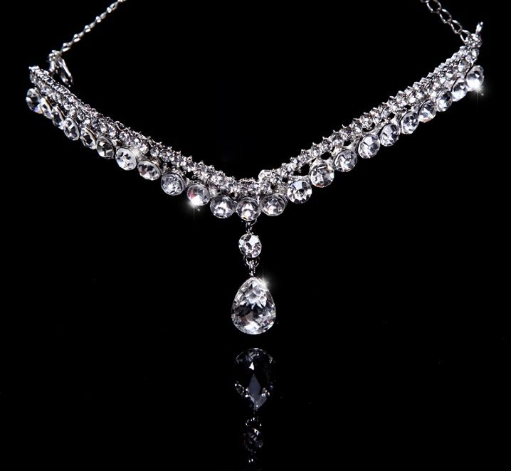 Diamond Bridal Necklace Designs: Vintage Style Pearl And Rhinestone Bridal Necklace