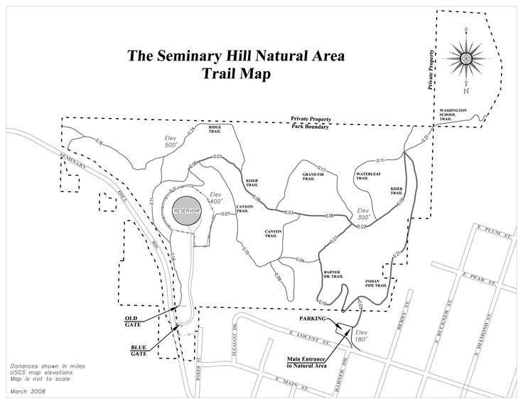 Seminary Hill Map detail - this is a couple of blocks from McMenamins