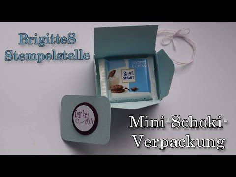 ▶ Envelope Punchboard Verpackung für Ritter-Sport Mini - YouTube