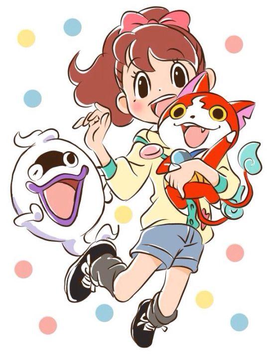 Yo-kai Watch   Katie (Fumika), Whisper, Jibanyan