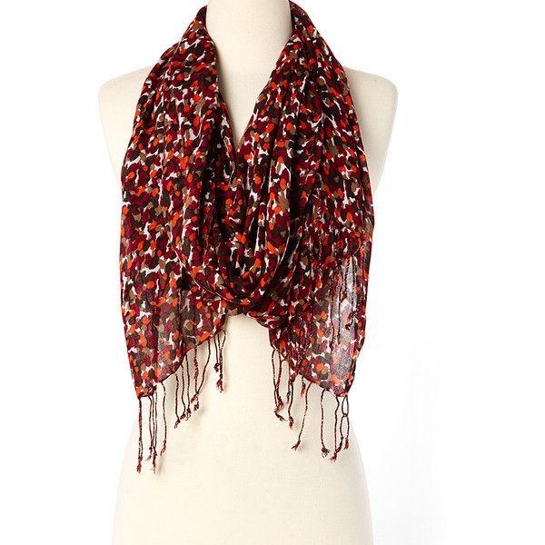 big buddha burgundy orange abstract scarf 9 99 liked
