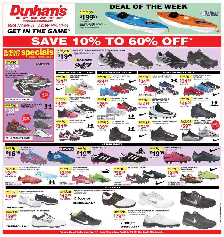 Dunham Sports Weekly Circular April 1- 6, 2017 - http://www.olcatalog.com/dunhams-sports/dunham-sports.html