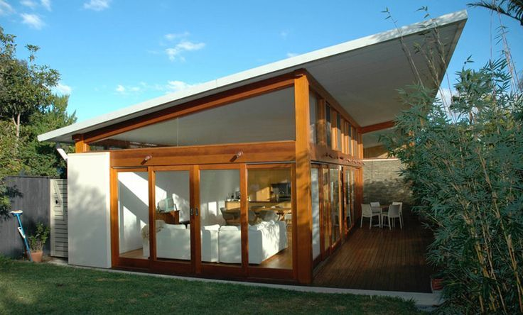 guest house pool cabana skillion roof designs - Google Search