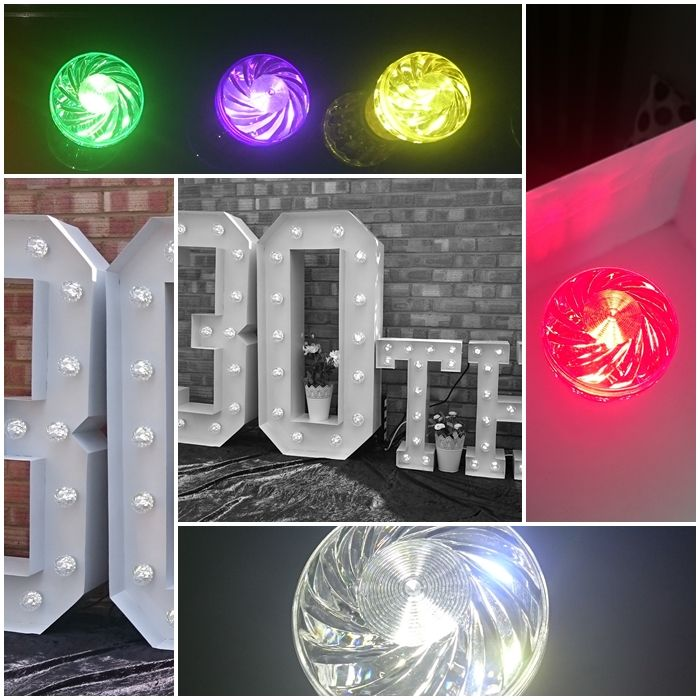 30th Large Light Up Letters for Birthday Celebrations.